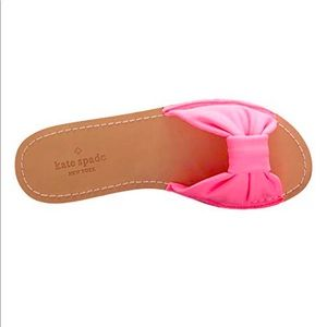 KATE SPADE Indi Neon Pink Neoprene Slide Sandals